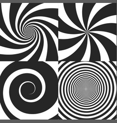 set of psychedelic vector image vector image