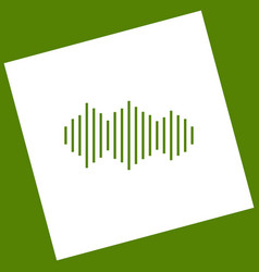 Sound waves icon white icon obtained as a vector