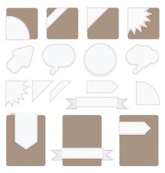 tabs set vector image vector image