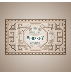Vintage frame design for labels menu sticker vector image