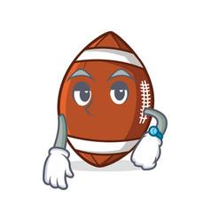 Waiting american football character cartoon vector