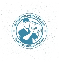 Water delivery service emblem vector image