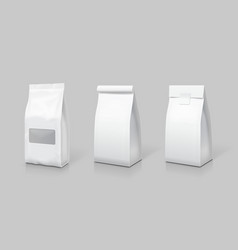 white blank tea bag package set vector image