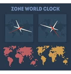 Zone World time vector image vector image