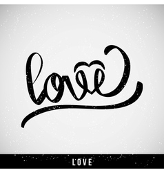 Lettering love for themes vector
