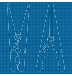 Clothespin icon vector image