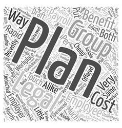 Group legal plans word cloud concept vector