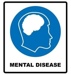 Mental disease sign mandatory vector