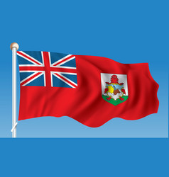 flag of bermuda vector image