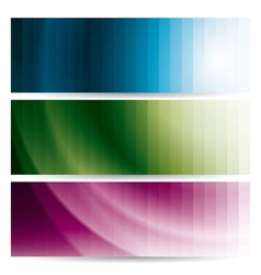 Abstract wavy banners with stripes vector