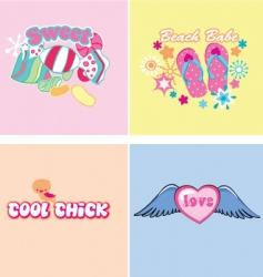 Kids graphics vector