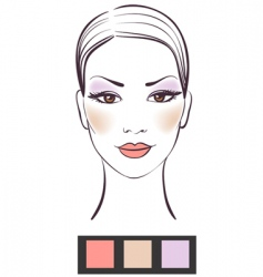 Women's makeup vector