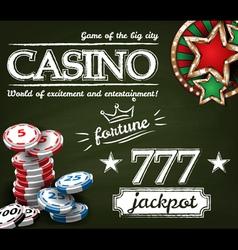 Casino poster vector