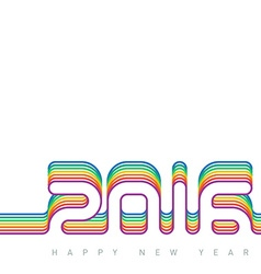 Happy new year 2016 colorful creative greeting vector