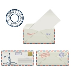 Set of envelopes from moscow with a painted the vector