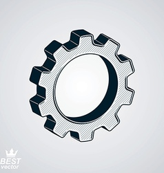 Dimensional classic cog wheel vector