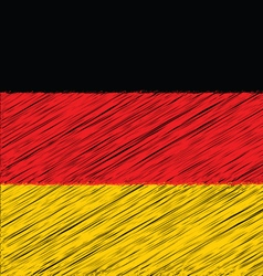 Flat hand draw sketch flag of german vector