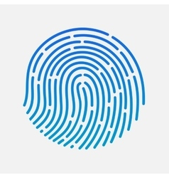 Circle touch fingerprint id app vector