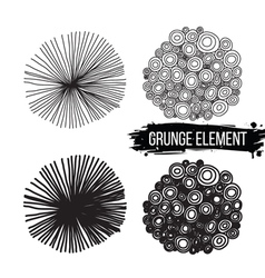 Set of abstract elements isolated background vector