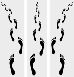 Human bare footsteps vector
