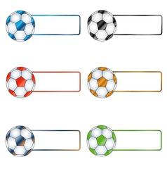 Six multi-colored balls vector