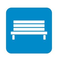 Outdoor park wooden bench icon vector