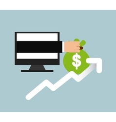 banking on line design vector image