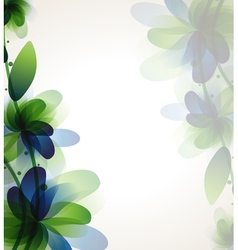 Branch with transparent flower vector image