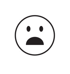 Cartoon face shocked people emotion icon vector