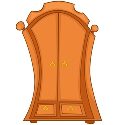 cartoon home furniture wardrobe vector image vector image