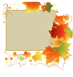 colorful autumn frame vector image