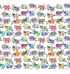 Cows Seamless background vector image
