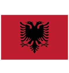 Flag of albania vector