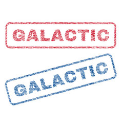 Galactic textile stamps vector