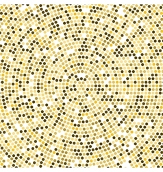 Gold Disco lights background Round golden vector image