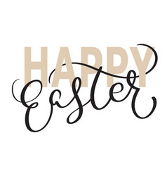 Happy easter words on white background vector