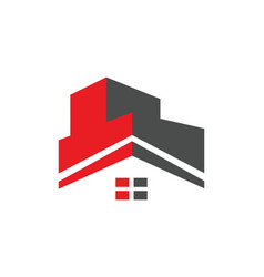 House roof construction building logo vector