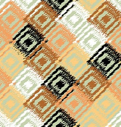 Ikat fabric seamless background vector image vector image