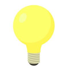 light bulb icon cartoon style vector image