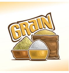 Logo of grain vector