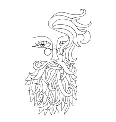 Man with glass and beard hipster style vector