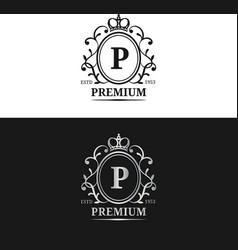 monogram logo templateluxury letter design vector image