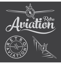 retro aviation label vector image