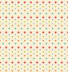 Seamless Geometric Texture with Rhombus Vintage vector image
