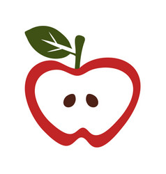 simple apple icon vector image vector image