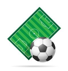 Soccer field vector