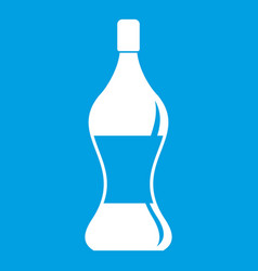 Soda water icon white vector