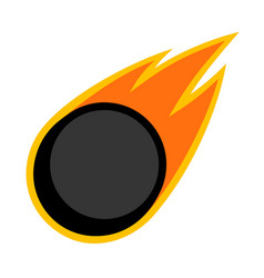 Sport ball fire ice hockey vector