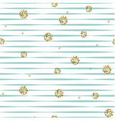 Striped blue and white seamless pattern with vector