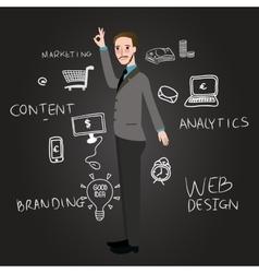 Teaching web design analytics branding and content vector